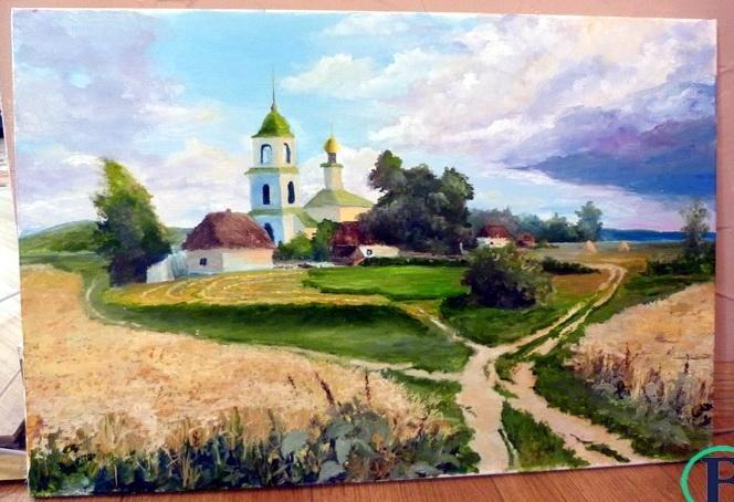 Черкаський художник пише картини, тримаючи пензлик у зубах (ФОТО), фото-3