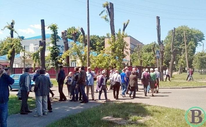 Працівники Черкасиобленерго перекрили дорогу (ФОТО), фото-1