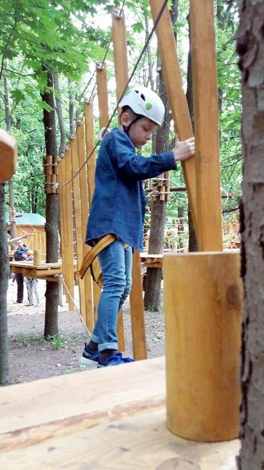 У парку «Перемога» з'явився мотузковий атракціон (ФОТО), фото-1