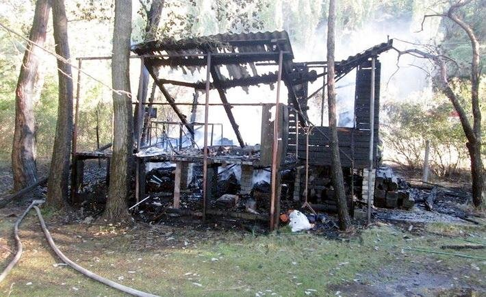 На вулиці Гагаріна згоріла надвірна споруда (ФОТО), фото-1