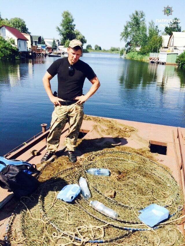 Водний патруль Черкас виявив у Кременчуцькому водоймищі заборонені засоби лову (ФОТО), фото-3