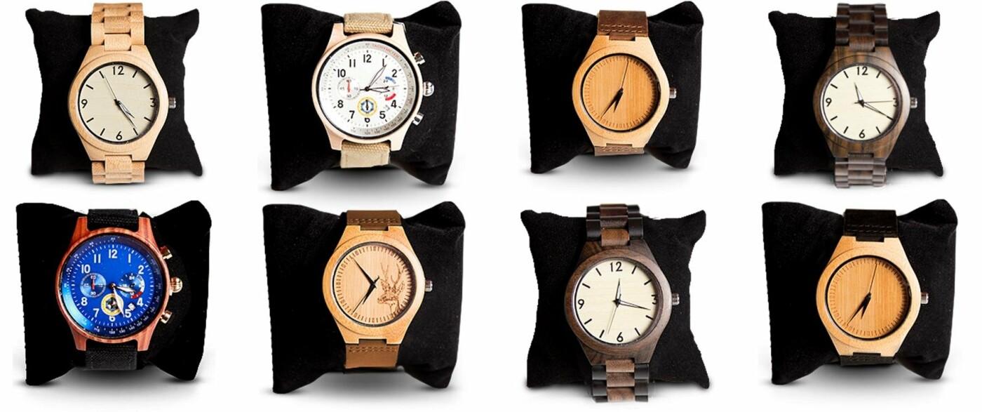 Екологічний наручний годинник из 100% натуральної деревини!, фото-1